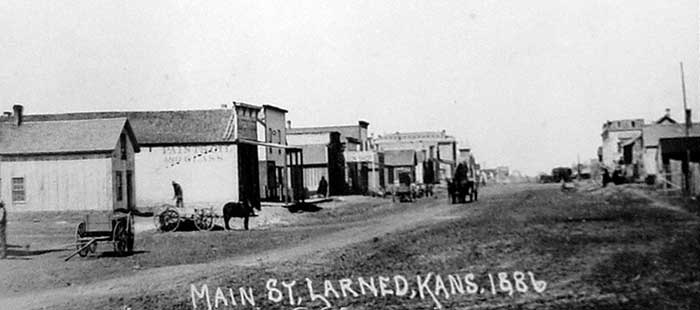 Larned Main Street 1886