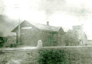 Marietta, Kansas Depot in about 1900.