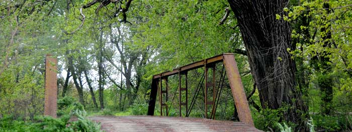 An old bridge in Marshall County, Kansas.