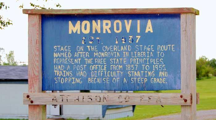 Monrovia, Kansas Sign