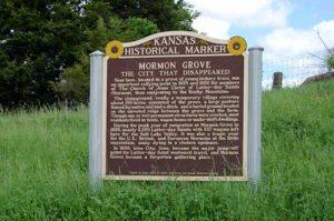 Mormon Grove, Kansas Historical Marker by Kathy Weiser-Alexander.