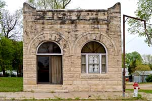 Oketo, Kansas Bank Building Museum by Kathy Weiser-Alexander.