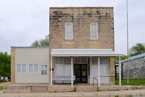 Old business building in Oketo, Kansas by Kathy Weiser-Alexander.