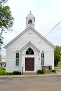 Oketo, Kansas Church by Kathy Weiser-Alexander.