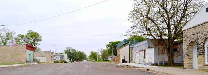 Oketo, Kansas Main Street by Kathy Weiser-Alexander.