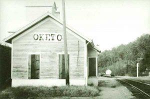 Union Pacific Depot in Oketo, Kansas.