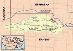 Northwest Kansas River Map