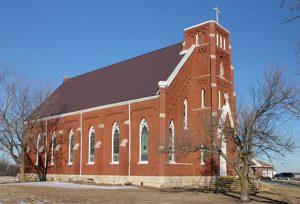 St. Bridget Church in Marshall County, Kansas.