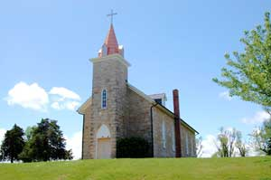 St. Patrick Catholic Church in Atchison County, Kansas by Kathy Weiser-Alexander.
