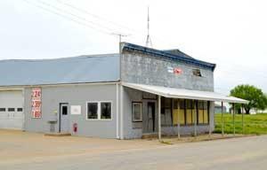 Summerfield, Kansas business building by Kathy Weiser-Alexander.