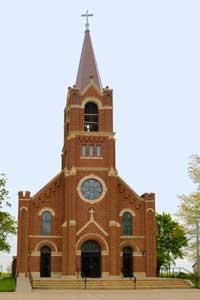 Holy Family Catholic Church in Summerfield, Kansas by Kathy Weiser-Alexander.