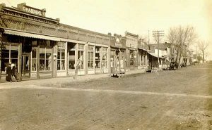 Main Street, Summerfield, Kansas 1911.