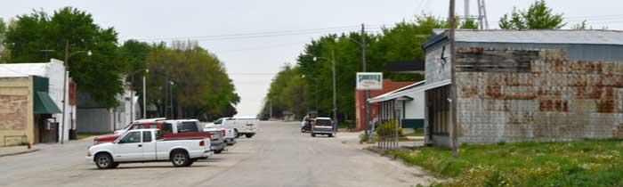 Summerfield, Kansas Main Street by Kathy Weiser-Alexander.