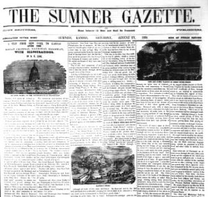 The Sumner, Kansas Gazette, 1859