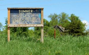Sumner, Kansas Sign by Kathy Weiser-Alexander.