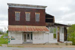 An old building in Vermillion, Kansas by Kathy Weiser-Alexander.