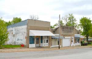 Main Street buildings in Vermillion, Kansas by Kathy Weiser-Alexander.