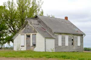 Old building in Vliets, Kansas by Kathy Weiser-Alexander.