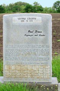Votaw Colony, Kansas Marker