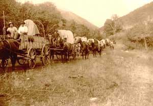 Mormon Wagon Train