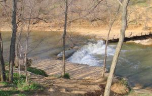 Wakarusa River Falls, Kansas courtesy Wikipedia.