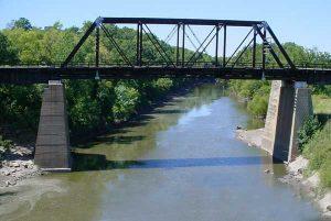 Walnut River near Winfield, Kansas.