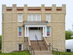The old Opera House in Waterville, Kansas by Kathy Weiser-Alexander.