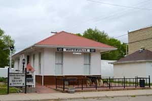 Waterville, Kansas Depot Museum by Kathy Weiser-Alexander.