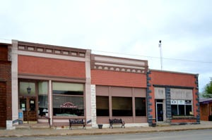 Commercial Buildings in Waterville, Kansas today by Kathy Weiser-Alexander.