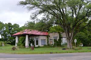 Old gas station in Dunlap, Kansas by Kathy Weiser-Alexander.