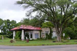 Old gas station in Dunlap, Kansas by Kathy Weiser-Alexander.