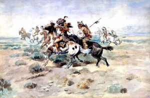 Indian Fight by Charles Marion Russell, 1898.