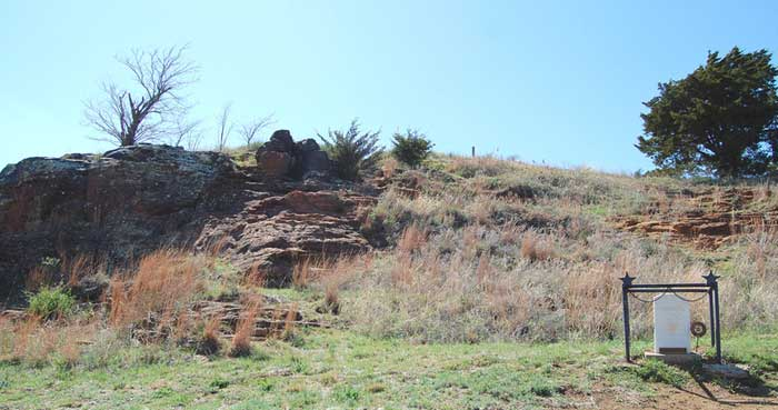 Pawnee Rock Landmark on the Santa Fe Trail