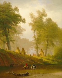 Wolf River, Kansas by Albert Bierstadt, about 1859.