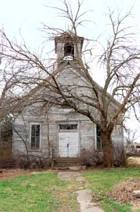 An old and unused church in Bavaria, Kansas by Kathy Weiser-Alexander.