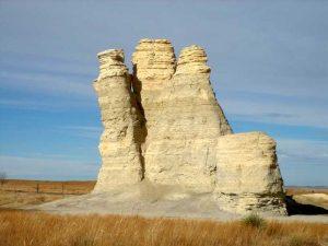 Castle Rock in Gove County, Kansas courtesy Wikipedia.