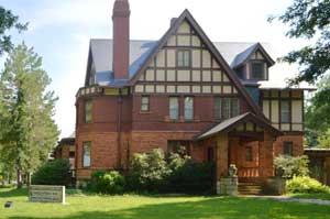 William Allen White's house in Emporia, Kansas is a state historic site, photo by Kathy Weiser-Alexander.