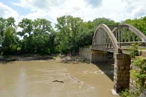 Cottonwood River, Emporia, Kansas by Kathy Weiser-Alexander.