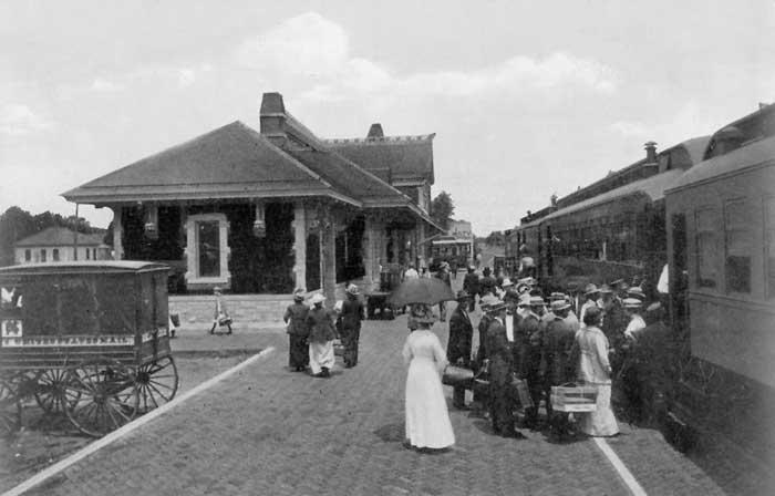 Missouri, Kansas & Texas Depot in Emporia, Kansas.