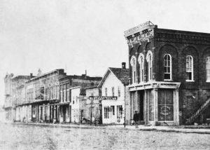 Emporia, Kansas in about 1863