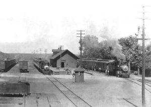 Atchison, Topeka, & Santa Fe Railroad Depot in Florence, Kansas, about 1905