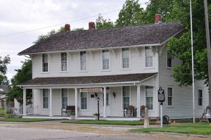 The old Harvey House Hotel and Restaurant in Florence, Kansas now serves as a museum. Photo courtesy Wikipedia.