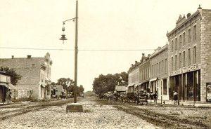 Florence, Kansas Main Street, 1908.