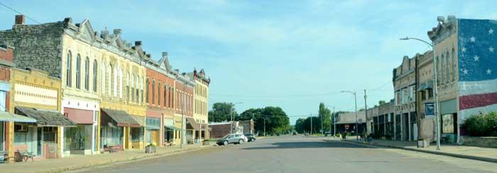 Florence, Kansas Main Street by Kathy Weiser-Alexander.