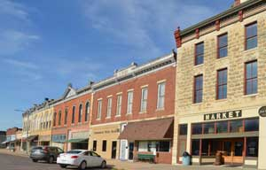 Florence, Kansas Main Street buildings today by Kathy Weiser-Alexander.