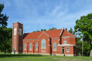 St Patrick Catholic Church in Florence, Kansas by Kathy Weiser-Alexander.