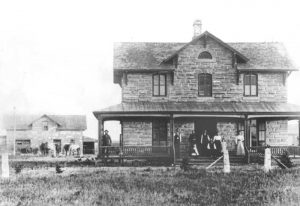 The George Grant home in Victoria, Kansas still stands today.