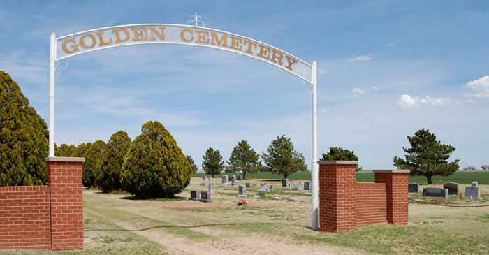 Golden Cemetery in Grant County, Kansas by Kathy Weiser-Alexander.