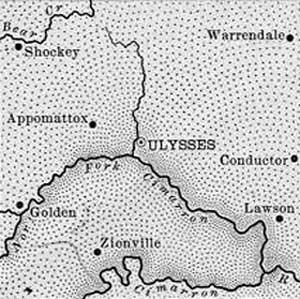 Grant County, Kansas Map, 1899.