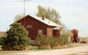 Old school turned residence west of Hickok, Kansas by Kathy Weiser-Alexander.